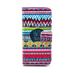 Old Tribal Leather Wallet Case for iPhone 5c