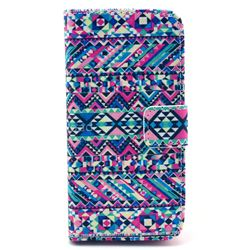 Triangle Tribal Leather Wallet Case for iPhone 5c
