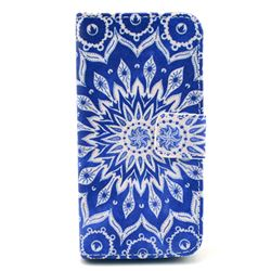 Mandala Flower Leather Wallet Case for iPhone 5c