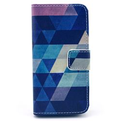 Rhombus Tribal Leather Wallet Case for iPhone 5c