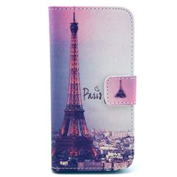 Fog Eiffel Tower Leather Wallet Case for iPhone 5c