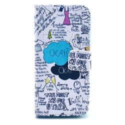 Graffiti Leather Wallet Case for iPhone 5c