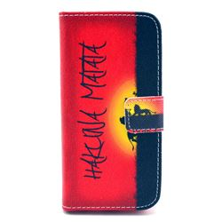 Hakuna Matata Leather Wallet Case for iPhone 5c