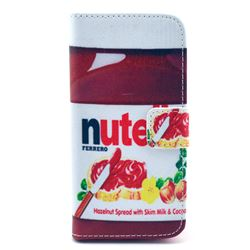 Nutella Leather Wallet Case for iPhone 5c