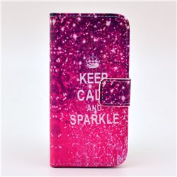 KEEP CALM AND SPARKLE Leather Wallet Case for iPhone 5c