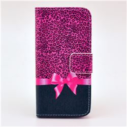 Bowknot Leather Wallet Case for iPhone 5c