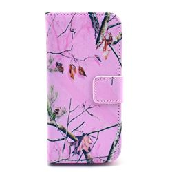 Spring Branch Leather Wallet Case for iPhone 5c