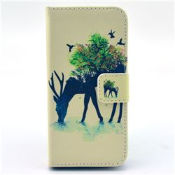 Antelope Leather Flip Wallet Case Cover for iPhone 5c