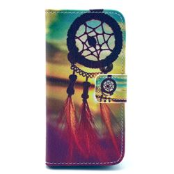 Sunset Dream Catcher Leather Wallet Case for iPhone 5c