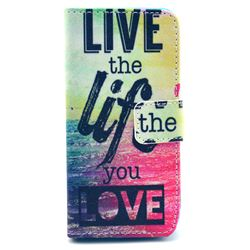 Live the Life Leather Wallet Case for iPhone 5c