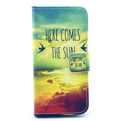 Here Comes the Sun Leather Wallet Case for iPhone 5c