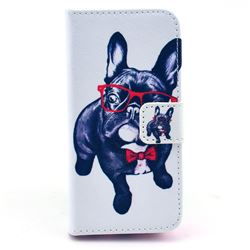 My Cute Dog Leather Wallet Case for iPhone 5c