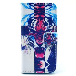 Roaring Tiger Leather Wallet Case for iPhone 5c