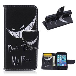 Crooked Grin Leather Wallet Case for iPhone 5c