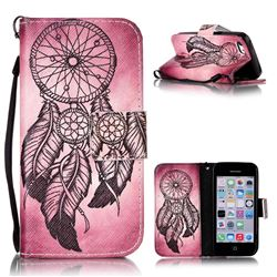 Wind Chimes Leather Wallet Phone Case for iPhone 5c