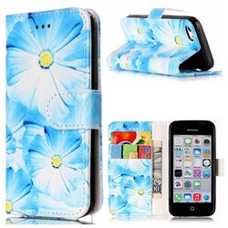 Orchid Flower PU Leather Wallet Case for iPhone 5c