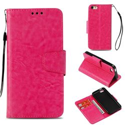 Retro Phantom Smooth PU Leather Wallet Holster Case for iPhone 5c - Rose