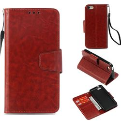 Retro Phantom Smooth PU Leather Wallet Holster Case for iPhone 5c - Brown