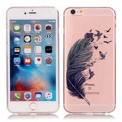 Bird Feathers Super Clear Soft TPU Back Cover for iPhone 6s 6 (4.7 inch)