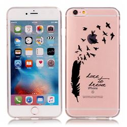 Dream Feathers High Transparent Soft TPU Back Cover for iPhone 6s 6 (4.7 inch)