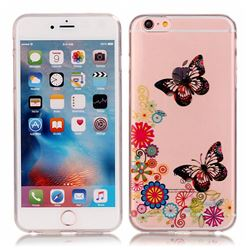 Flowers Butterfly High Transparent Soft TPU Back Cover for iPhone 6s 6 (4.7 inch)