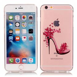 Flower High Heels Super Clear Soft TPU Back Cover for iPhone 6s 6 (4.7 inch)