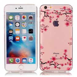 Plum Blossom Super Clear Soft TPU Back Cover for iPhone 6s 6 (4.7 inch)
