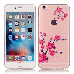 Peach Blossom High Transparent Soft TPU Back Cover for iPhone 6s 6 (4.7 inch)