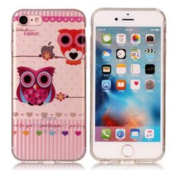Owls Flower Super Clear Soft TPU Back Cover for iPhone 6s 6 6G(4.7 inch)