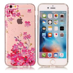 Plum Blossom Bloom Super Clear Soft TPU Back Cover for iPhone 6s 6 6G(4.7 inch)