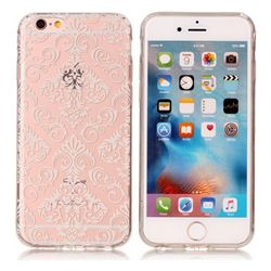 White Lace Flowers Super Clear Soft TPU Back Cover for iPhone 6s 6 6G(4.7 inch)