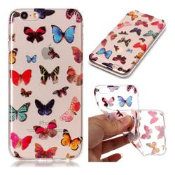 Colorful Butterfly Super Clear Soft TPU Back Cover for iPhone 6s 6 6G(4.7 inch)