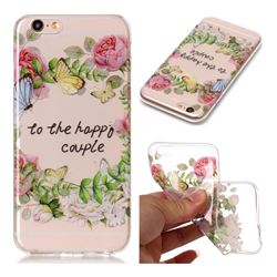 Green Leaf Rose Super Clear Soft TPU Back Cover for iPhone 6s 6 6G(4.7 inch)