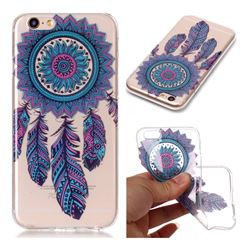 Blue Wind Chimes Super Clear Soft TPU Back Cover for iPhone 6s 6 6G(4.7 inch)