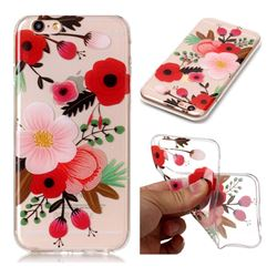 Painting Flowers Super Clear Soft TPU Back Cover for iPhone 6s 6 6G(4.7 inch)