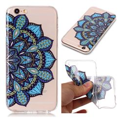 Peacock flower Super Clear Soft TPU Back Cover for iPhone 6s 6 6G(4.7 inch)