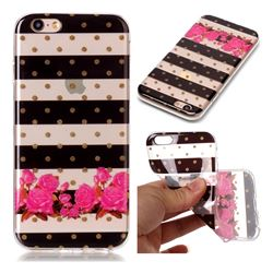 Striped Flowers Super Clear Soft TPU Back Cover for iPhone 6s 6 6G(4.7 inch)