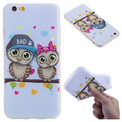Couple Owls 3D Relief Matte Soft TPU Back Cover for iPhone 6s 6 6G(4.7 inch)