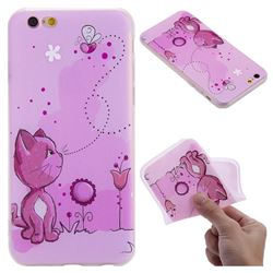 Cat and Bee 3D Relief Matte Soft TPU Back Cover for iPhone 6s 6 6G(4.7 inch)