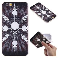 Compass Skulls 3D Relief Matte Soft TPU Back Cover for iPhone 6s 6 6G(4.7 inch)
