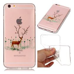 Branches Elk Super Clear Soft TPU Back Cover for iPhone 6s 6 6G(4.7 inch)