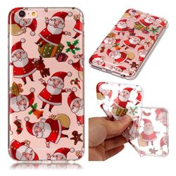 Santa Claus Super Clear Soft TPU Back Cover for iPhone 6s 6 6G(4.7 inch)