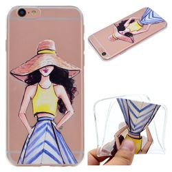 Summer Girl Super Clear Soft TPU Back Cover for iPhone 6s 6 6G(4.7 inch)