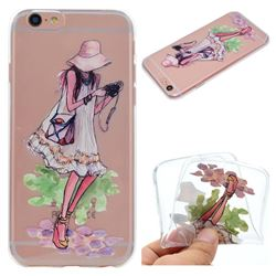 Travel Girl Super Clear Soft TPU Back Cover for iPhone 6s 6 6G(4.7 inch)