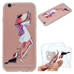 Pet Girl Super Clear Soft TPU Back Cover for iPhone 6s 6 6G(4.7 inch)