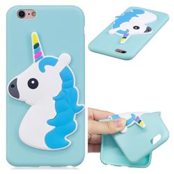 Blue Hair Unicorn Soft 3D Silicone Case for iPhone 6s 6 6G(4.7 inch)