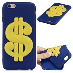 US Dollars Soft 3D Silicone Case for iPhone 6s 6 6G(4.7 inch)