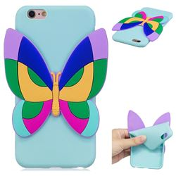 Rainbow Butterfly Soft 3D Silicone Case for iPhone 6s 6 6G(4.7 inch)