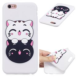 Couple Cats Soft 3D Silicone Case for iPhone 6s 6 6G(4.7 inch)