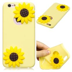 Yellow Sunflower Soft 3D Silicone Case for iPhone 6s 6 6G(4.7 inch)